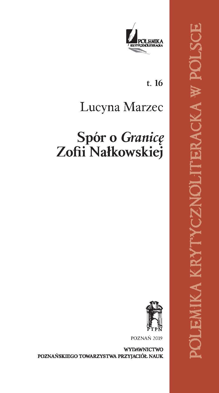 Spór o Granicę Zofii Nałkowskiej – Wydawnictwo PTPN